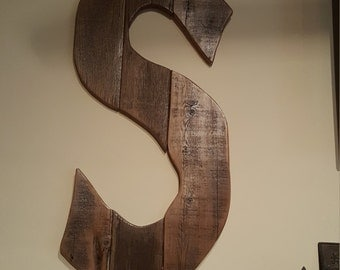 big letters custom home decor letters hand crafted reclaimed wood letters special orders initials rustic wood letters