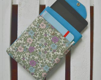 Housing for electrical devices, tablets, mini iPad, kindle leather and floral fabric