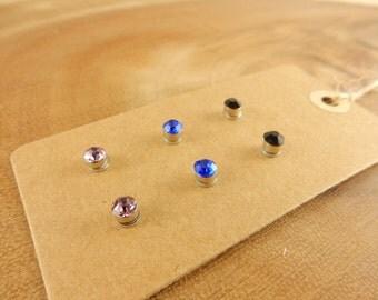Blue Magnetic Earrings, Stud Earrings, Magnetic Studs, Unpierced Ears, Magnet Studs