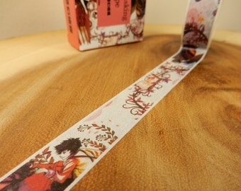 Fairy Washi Tape, Woodland Fairies Japanese Tape, Planner Decal, 15mm Tape