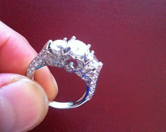 3.70 Ct White sapphire 925 silver ring