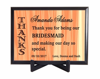 Bridesmaid Gift,Thank you Gift to BridesMaids, Custom Wedding Favors, Bridal Entourage Gifts, Personalized , Appreciation Gifts, PHW009