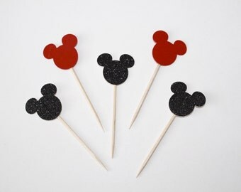 Mickey Mouse Cupcake Toppers. Mickey Mouse Party Decorations. Mickey Mouse Party. Cupcake Toppers. Cupcake Decor. Mickey Mouse Decor.
