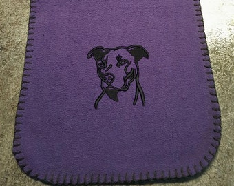 Pit Bull Embroidered Knit Scarf