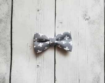 Gray and White Baby and Toddler Bow Tie - The Sebastian