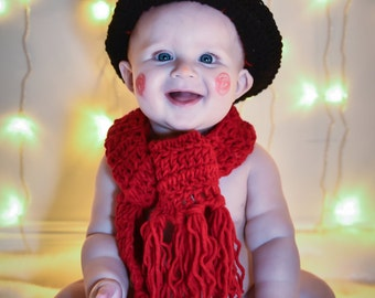 Crochet Snowman Holiday Outfit