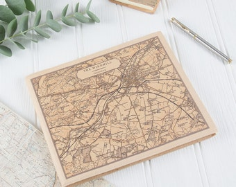 Personalised Map Guestbook