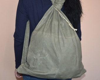 Vintage backpack - Distressed bag - Military backpack - Army backpack - Canvas backpack - Messenger bag - Old rucksack - Cold war haversack