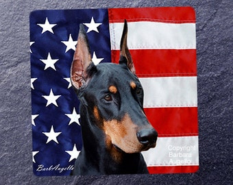 Doberman Coasters, Doberman Gift, Doberman Art, Doberman