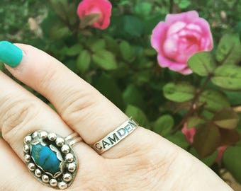 Sterling Silver Hand Stamped Ring - Custom