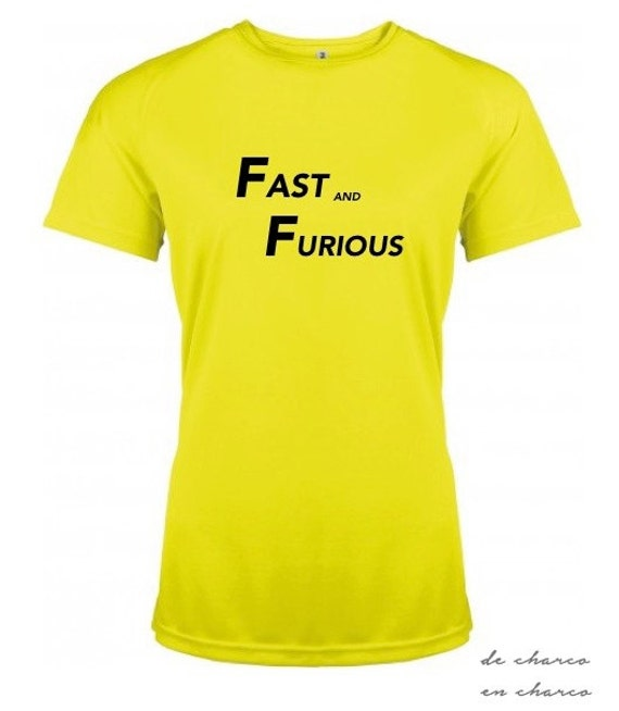 Running round neck women t-shirt FAST AND FURIOUS