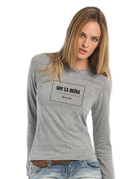 Round neck women t-shirt SOY LA REINA de mi casa