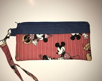 Mickey Mouse and Minnie Wristlet