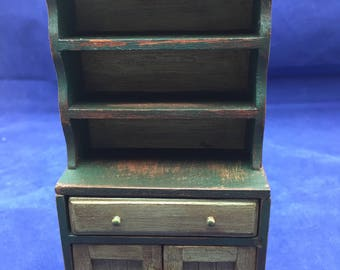 1:12th Scale Dollhouse Miniature Rustic Cabinet