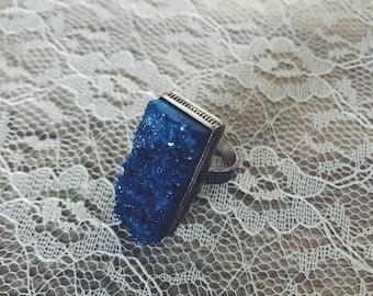 Druzy ring