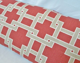 Kravet Citysquare-Wildrose By Thom Filicia / Decorative Throw Pillow Cover, Lumbar Pillow Cover, Euro Shams / Both Sides / Linen
