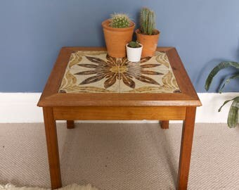 1970's Tiled Side Table