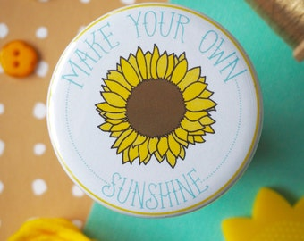 Pocket Mirror Make Your Own Sunshine Sunflower - Charity Fundraising