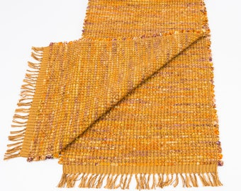 Handwoven Table Runner in Warm Browns  Cotton/Cotton Batik