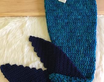 Blue Mermaid Tail Blanket, Mermaid tail Blanket Kids, Crochet Mermaid Blanket, Ready To Ship, Mermaid Tail Blanket, Mermaid Birthday Party