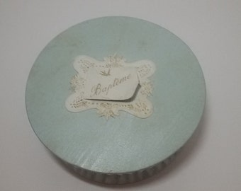 Vintage french/baptism/christening sugared almond box Vintage candy box