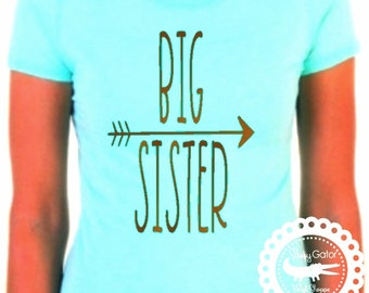 BIG Sister Shirt, LITTLE Sister Shirt, Sibling Sister Shirt, Sibling Shirt, Siblings Shirt Set, Pregnancy Reveal, Baby Shower Gift