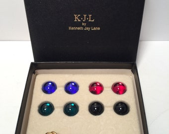 Vintage KJL by Kenneth Lane interchangeable earring set