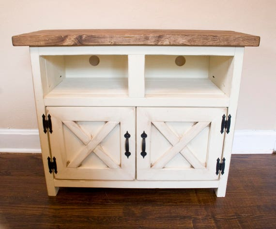 Farmhouse Tv Stand Entertainment Cabinet Cabinet W Doors