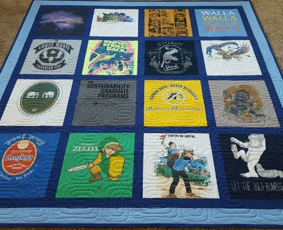 Jersey t-shirt quilts made from 9 to 49 tees. Memory T shirt : custom tshirt quilts - Adamdwight.com