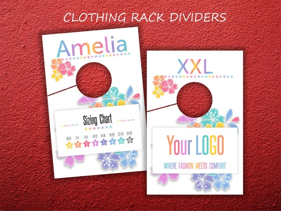 clothing rack dividers rack size hanging dividers by znaidy