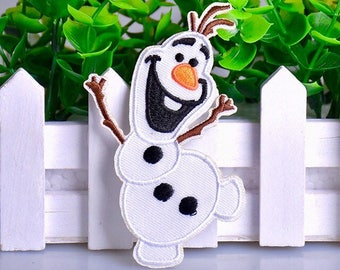 Frozen Patch Olaf snowman Iron on patches frozen Olaf embroidered patch frozen applique badge patch DIY children patches iron