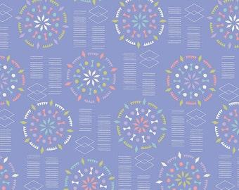 Kaleidoscope Mandalas Fabric - Lavender - Sold by the 1/2 Yard