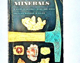 Rocks and Minerals A Guide to Minerals, Gems and Rocks Vintage Paperback Book 1957