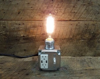 Industrial Steam Punk USB Charger Desk Lamp
