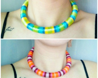 Multi-colour Wrap African Tribal Necklaces, For Women