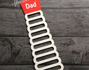 Personalised Wooden Fathers Day Tie Holder Rack Organiser Daddy Dad Suit Tie Gifts For Men Grandad Uncle Teacher Appreciation Gift