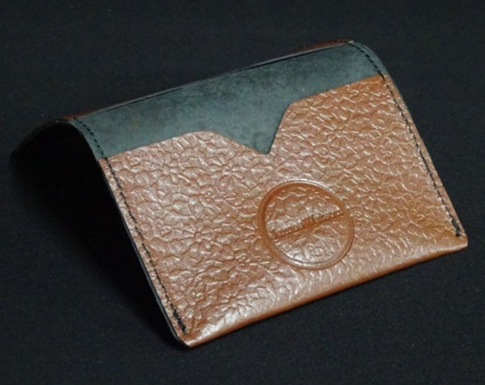 Bantam Wallet - Floral Brown - Kangaroo leather with RFID Credit Card Blocking - James Watson
