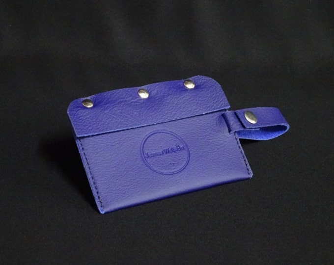 Travel Luggage Tag - Purple - Kangaroo leather - Handmade - James Watson