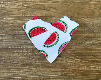 Bandana Bib, Dribble Bib, Drool Bib, Teething Bib - Watermelon