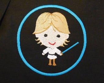 Cute Embroidered Luke Skywalker Messenger Bag