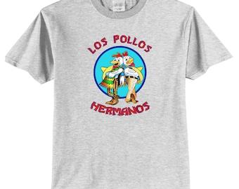 Los Pollos Hermanos Breaking Bad Front Logo Print T-Shirt