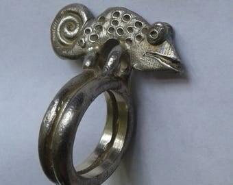 Handmade Silver Chameleon Ring