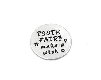Tooth Fairy Wishing Coin, Customizable , Aluminum Coin, Tooth Fairy Visit, First Tooth Keepsake, Coin Gift,  Tooth Fairy Gift, Magical Gift
