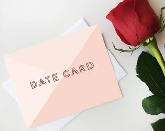 Date Card Notecard, Bachelorette Digital Notecard, Bachelor Date Card, Bachelor Postcard, Digital Download, Printable Postcard, Most Popular