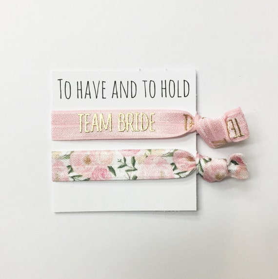 Bridesmaid hair tie favors//hair tie cards, hair tie favors, bridesmaid gift, bachelorette party, wedding, bride, party favor
