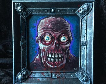 Zombie Dude Painting with Cool Frame