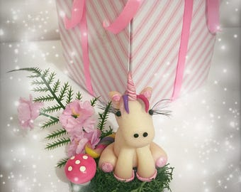 Miniature unicorn fairies accessories polymer clay fairy garden