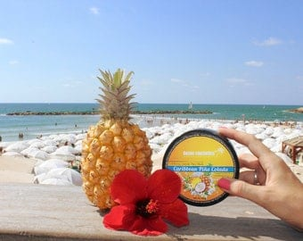 Caribbean Pina Colada Exfoliating Enzyme Face Mask - Tropical Caribbean Coconut Butter and Pineapple mask