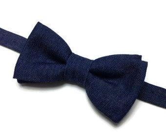 bow tie jean denim, bowtie, bowtie, bow tie pre tied, denim gift for him, gift man