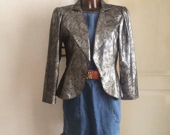 Vintage silver lurex jacket